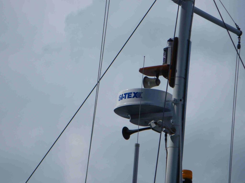New Black box radar installed on mast of Columbia III