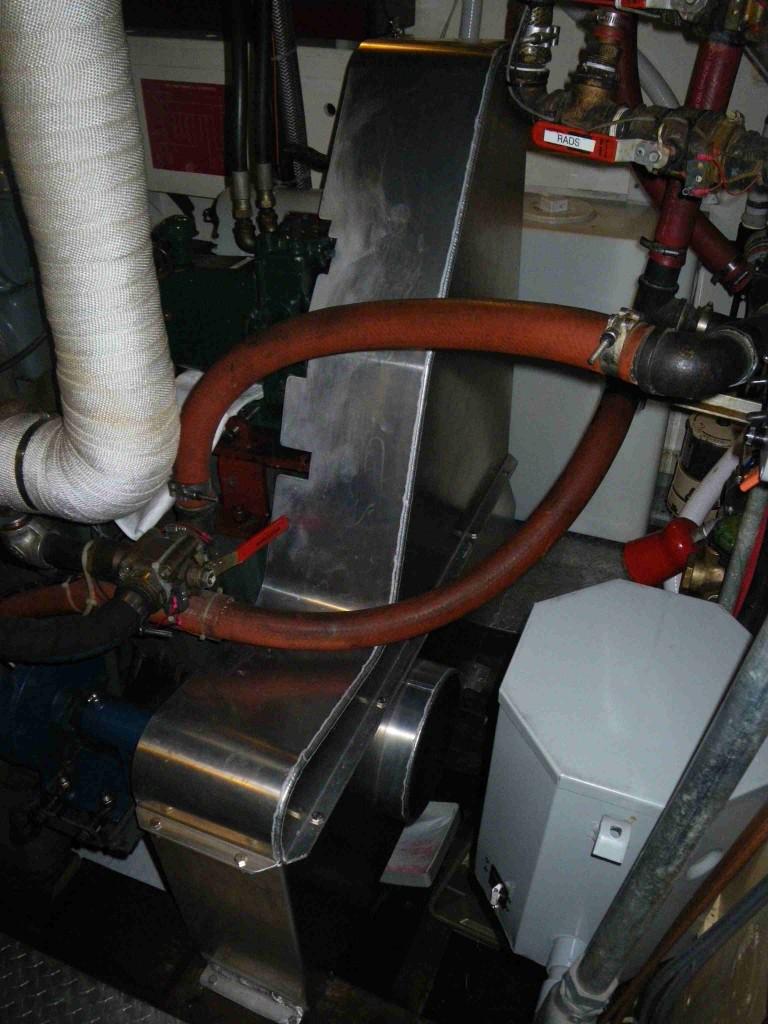 Gardner engine belt-guard installed on Columbia III mothership