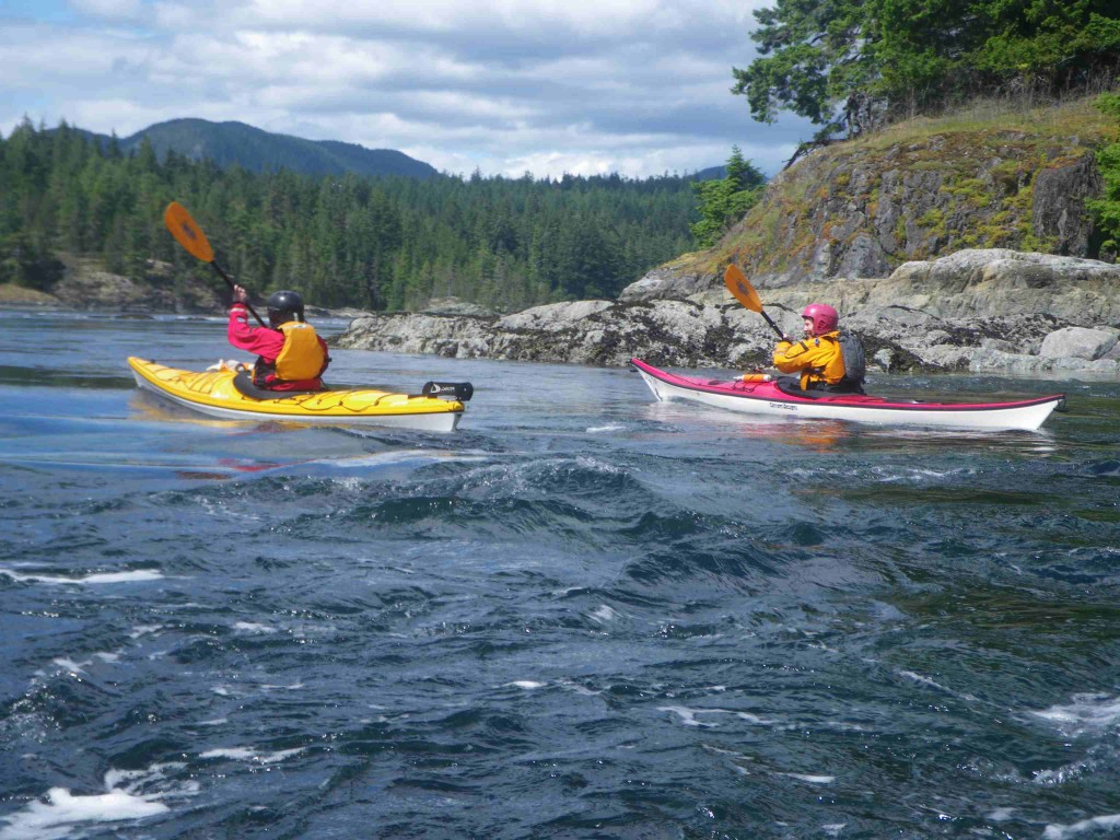 Sea kayaking tidal rapids canada Pacific Ocean